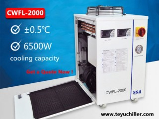 Cold water chiller equipment for 2000W fiber laser cutter