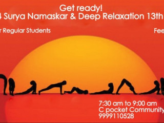 54 Surya Namaskar and Deep Relaxation
